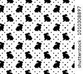 cute geometric easter seamless... | Shutterstock .eps vector #1010308897