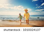 boy and girl playing on the... | Shutterstock . vector #1010324137