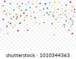 many falling colorful tiny...   Shutterstock .eps vector #1010344363