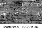 grainy black and white distress ... | Shutterstock .eps vector #1010345203