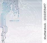 circuit board  technology... | Shutterstock .eps vector #1010355697
