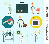 icons set about human with... | Shutterstock .eps vector #1010364013