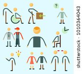 icons set about human with... | Shutterstock .eps vector #1010364043