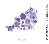map of niger filled with...   Shutterstock .eps vector #1010374723