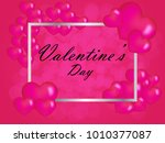 valentine s day abstract... | Shutterstock .eps vector #1010377087