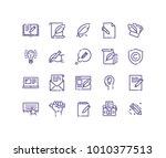 simple set of copywriting... | Shutterstock .eps vector #1010377513