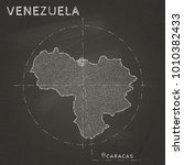 venezuela map hand drawn with... | Shutterstock .eps vector #1010382433
