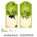 a set of labels for olive oil.... | Shutterstock .eps vector #101039323
