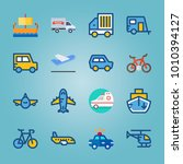 icon set about transport with... | Shutterstock .eps vector #1010394127