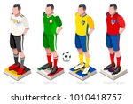 soccer world cup a group of... | Shutterstock .eps vector #1010418757