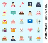 icons set about wedding with... | Shutterstock .eps vector #1010425507