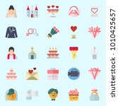 icons set about wedding with... | Shutterstock .eps vector #1010425657
