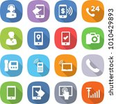 flat vector icon set   call... | Shutterstock .eps vector #1010429893