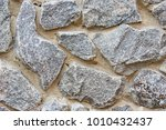 decorative modern stone wall of ... | Shutterstock . vector #1010432437