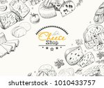 vector background with a... | Shutterstock .eps vector #1010433757
