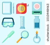 icons set about laboratory with ... | Shutterstock .eps vector #1010448463