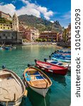 Vernazza Bay With Colorful...