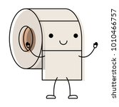 kawaii cartoon toilet paper... | Shutterstock .eps vector #1010466757