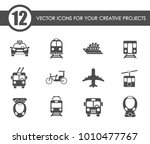 public transport vector icons... | Shutterstock .eps vector #1010477767