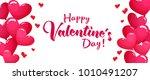 valentines day sale horizontal... | Shutterstock .eps vector #1010491207