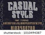 vintage font typeface... | Shutterstock .eps vector #1010494387