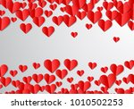 valentines day card with... | Shutterstock . vector #1010502253