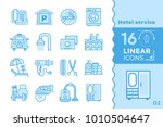 linear icons collection of... | Shutterstock .eps vector #1010504647