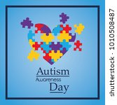 autism awareness day colorful... | Shutterstock .eps vector #1010508487