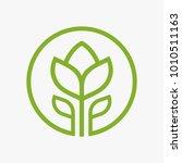 tulip flower logo design...   Shutterstock .eps vector #1010511163
