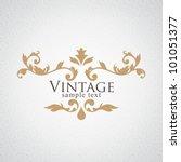 Stock vector vintage vector floral frame 101051377