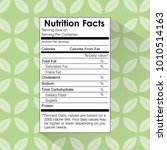 nutrition facts food label... | Shutterstock .eps vector #1010514163