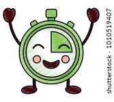 kawaii chronometer speed timer...   Shutterstock .eps vector #1010519407