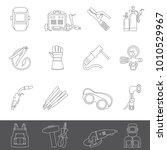 line icons   welding equipment | Shutterstock .eps vector #1010529967