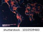 modern technology world map... | Shutterstock . vector #1010539483