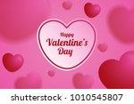 blurred heart balloons... | Shutterstock .eps vector #1010545807