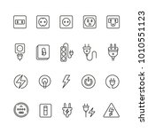 electrical outlets and switches ... | Shutterstock .eps vector #1010551123