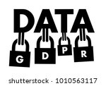 gdpr   general data protection... | Shutterstock .eps vector #1010563117