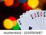 full house poker cards... | Shutterstock . vector #1010563687