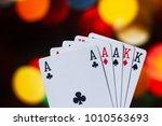 full house poker cards... | Shutterstock . vector #1010563693
