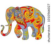 hand drawn doodle ornamental...   Shutterstock .eps vector #1010566027