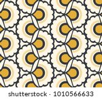 seamless retro pattern with...   Shutterstock .eps vector #1010566633
