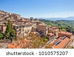panoramic view of the city and... | Shutterstock . vector #1010575207