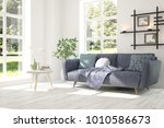 idea of white room with sofa... | Shutterstock . vector #1010586673