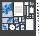 corporate identity  stationery... | Shutterstock .eps vector #1010591113