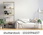 contrasting modern interior... | Shutterstock . vector #1010596657