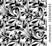 seamless pattern in the baroque ... | Shutterstock .eps vector #1010616463