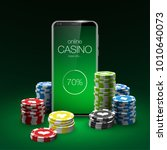 vector online poker casino... | Shutterstock .eps vector #1010640073