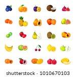 fresh tropical fruits berries...   Shutterstock . vector #1010670103