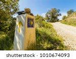 Pilgrim sign on camino de...