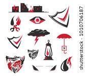 danger  disaster protection... | Shutterstock .eps vector #1010706187